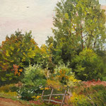 2014, Łąka 6, Wiese, Meadow, olej na płycie, 24,5 x 30 cm.