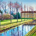 2009, Park Sanssouci w grudniu ,olej na płótnie, 35 x 45 cm.