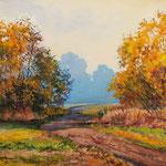 2012, Jesień 3, olej na płótnie, 30 x 40 cm, Autumn.