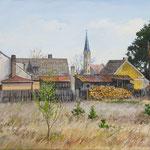 2017, Wieś Trzebicz, olej na płótnie lnianym, 40 x 60 cm.