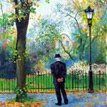 2008, Jesienny pan, olej na płótnie, 30 x 40 cm.