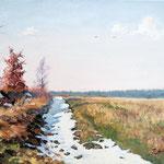 2014, Przedwiośnie/Early Spring,  olej na płótnie lnianym, 30 x 40 cm.
