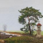 2015, Przedwiośnie, Early Spring,  olej na płycie, 30 x 42 cm.
