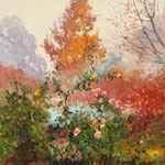 2012, Jesień w Parku, Herbst im Park, olej na płótnie lnianym, 30 x 40 cm.