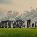 2016, Stonehenge, olej na płótnie, 34 x 50 cm.