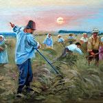 2011, Od wschodu do zachodu, olej na płótnie, 24 x 30 cm.