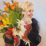 2014, Ania, olej na płótnie, 40 x 50 cm.
