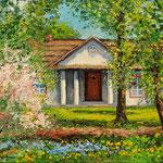 2013, Wiosna,  olej na płótnie lnianym, 30 x 40 cm.