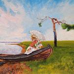 2012, Dreams, Marzenia, Träume, oil on canvas, 30 x 40 cm.