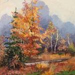 2011, Barwy Jesieni 3,  olej na płótnie, 30 x 40 cm.