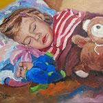 2012, Nina, olej na płótnie, 30 x 40 cm.