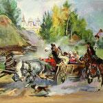 Wesele Krakowskie, olej na płótnie, 35 x 53 cm.