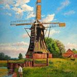 2012, Przy Wiatraku, Bei der Windmühle, olej na  płótnie, 46 x 55 cm.