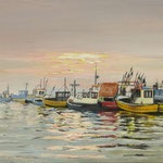 2017, Port rybacki w Kuźnicy, Fishing port / Fischereihafen in Kuźnica, olej na płótnie, 40 x 60 cm.