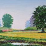 2009, o poranku, olej na płótnie, 30 x 40 cm.