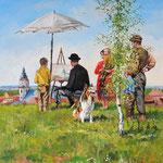 2011, Pan Malarz, olej na płótnie, 50 x 60 cm. 夏
