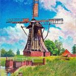 2008, Odpoczynek, olej na płótnie, 30 x 40 cm.