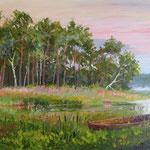 2013, Wróćmy nad jeziora, olej na płótnie lnianym, 30 x 40 cm.