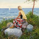 2015, Wspomnienie lata, Sommererinnerung, olej, płótno lniane, 30 x 40 cm