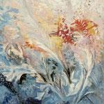 2015, Lodowe kwiaty, Eisblumen, olej, karton, 27 x 40 cm.