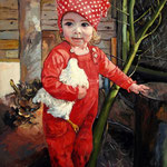 2015, Emily Wnuczka, Enkelin, olej na płótnie lnianym, 45 x 60 cm.