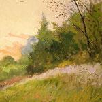 2015, Na skraju lasu, am Waldrand, olej na płycie, 20 x 30 cm.