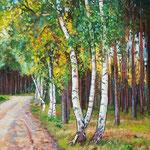 2010, na skraju lasu, Am Waldrand, olej na płótnie, 30 x 40 cm.