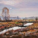 2012, Jesień, olej na płótnie, 30 x 40 cm.