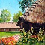 2011, lato na wsi,  olej na płótnie, 24 x 30 cm.