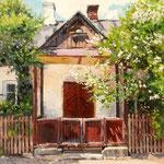 2015, Stary dom, Altes Haus, Old house  w Kazimierzu Dolnym, olej na płótnie lnianym, 30 x 40 cm.