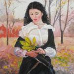 2016, Jesienna melancholia, autumn melacholy, olej na desce, 34 x 46 cm.