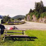 vers Trondheim pendant une pause piquenique