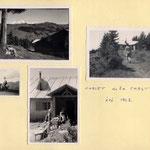au chalet du Club Alpin Français, sous le col des Saisies et face au mont Blanc