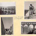 """""""Simone"""" et Cécile sur le pont du Gard (et dans l'aqueduc)"""
