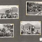 le lac du Bourget à St Jorioz et le col de Leschaux