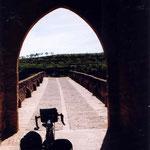 à Puente la Reina avant de traverser un pont du Camino francès