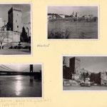 Avignon et son palais des Papes; et le pont détruit plus tard, pendant la guerre