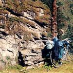mon vélo dans la traversée de l'Himalaya (gorges du Diable)