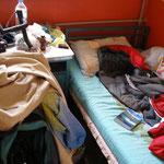 entre les 2 lits de ma chambre en Turquie