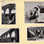 """""""Simone"""" et Cécile au pont du Gard"""