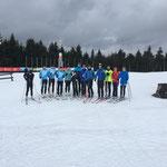 24 km täglich mit dem Auto Fahrt zum Schnee in die Arena nach Oberwiesenthal.