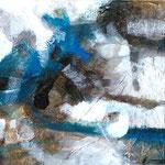 Big Size Ice, acrilici resina e foglia d'oro su tela, 30 x30 cm (trittico), 2009, Collezione Privata.