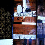 Sweet home, tecnica mista su assemblaggio di legno, 52 x75 cm, 2006, Galleria Perelà.