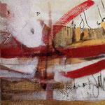 Paesi lontani, tecnica mista su tela, 30 X30 cm, 2007.