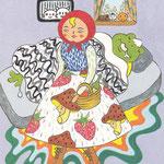 赤ずきんちゃんはカエルのおばあさんに食べられる