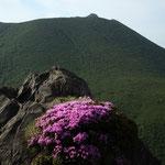 平治岳南峰より大船山を望む