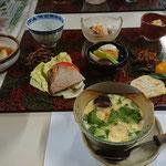 茶碗蒸し(手前) ※とても美味しかった!!