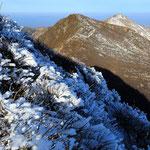 霧氷と天狗ヶ城と星生山