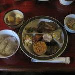 夕食(種池山荘)