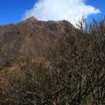 普賢岳より平成新山を望む